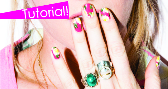 Tutorial Nail Art de Flores!