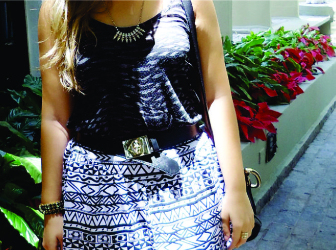 Look Estampa Tribal Preto e Branco!