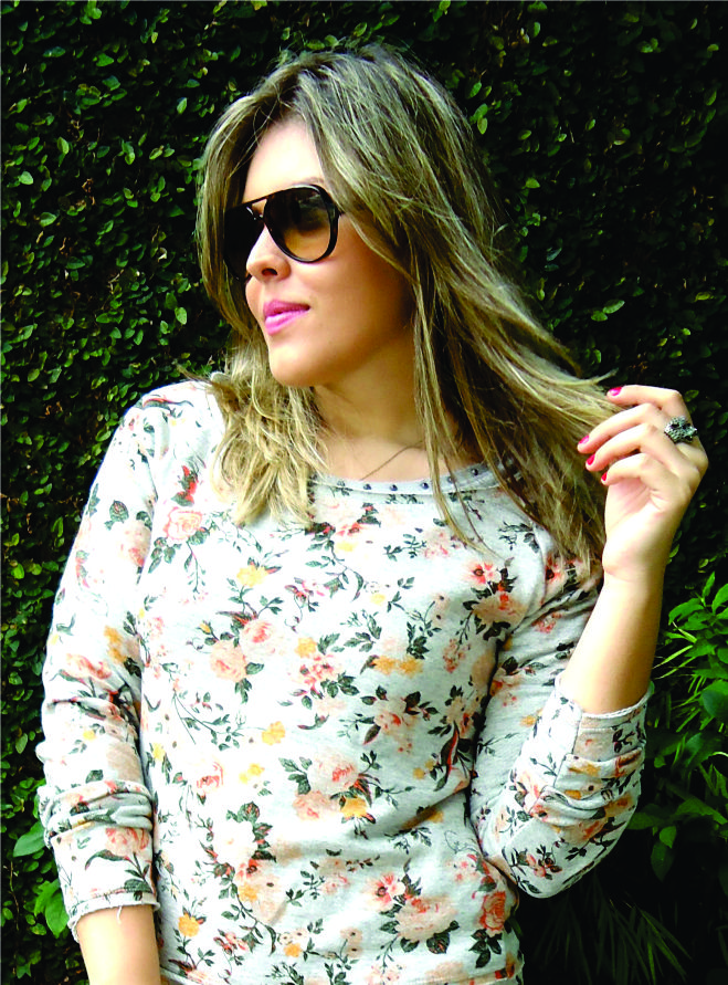 Look Emme Bulldog e Flores Estampa  2