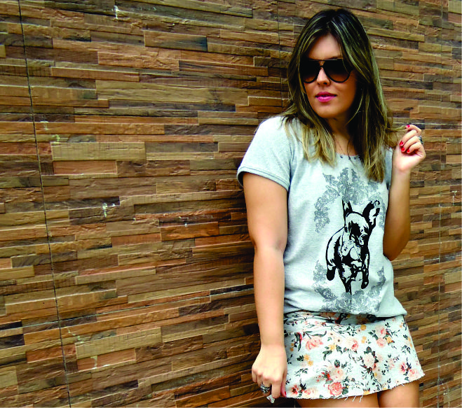 Look Emme Bulldog e Flores Estampa  7