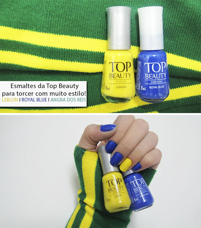 Esmalte Copa do Mundo Top Beauty Verde e Amarelo 1
