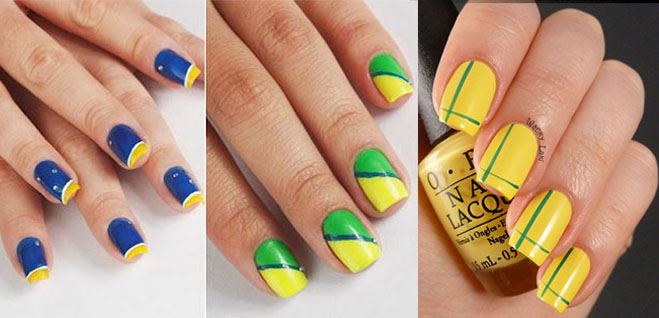 Esmalte Copa do Mundo Top Beauty Verde e Amarelo 3