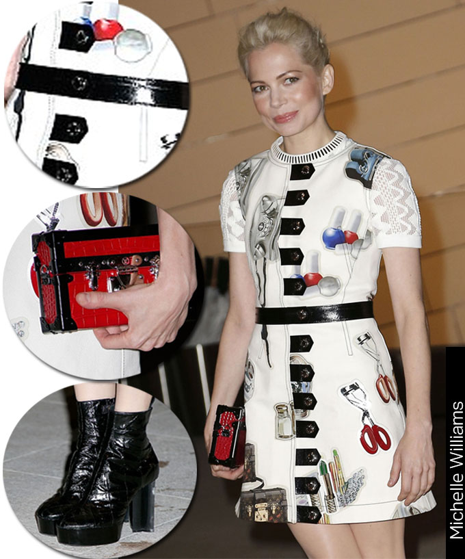Michelle Williams Estampa Arsty Louis Vuitton 2