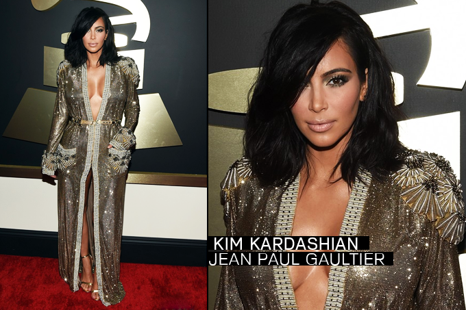 Grammy Awards 2015 Looks Kim Kardashian