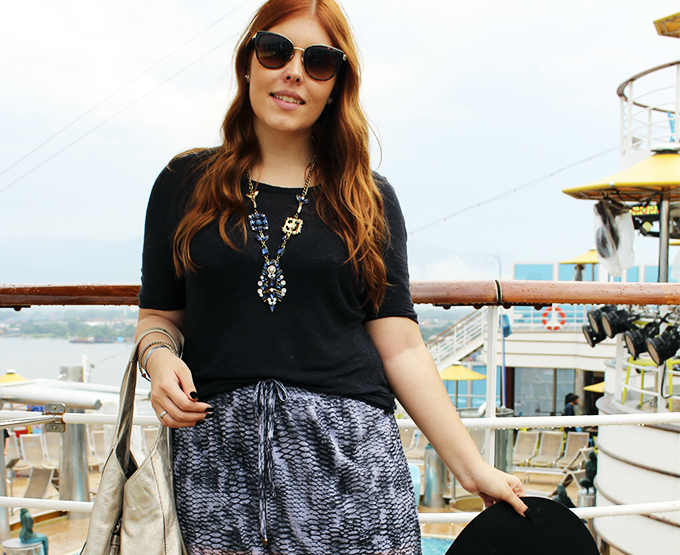 Chilli Beans Fashion Cruise - Dia 1 l Look de Embarque com Saia Longa!