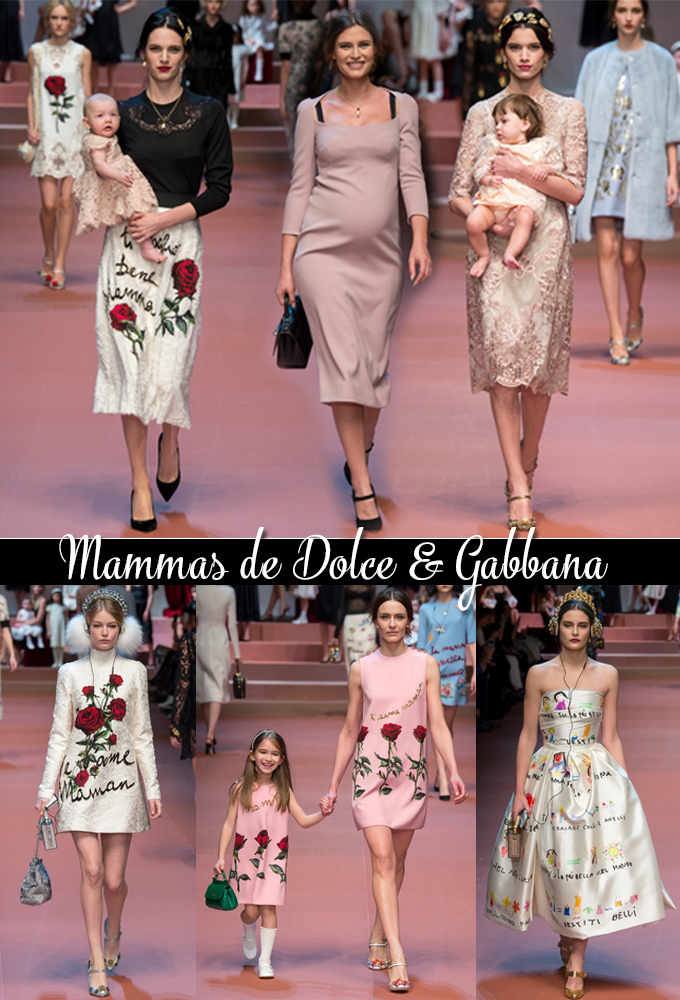 Milan Fashion Week Fall 2015 Desfile Dolce & Gabbana Mammas 1