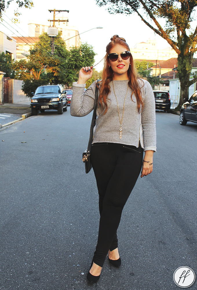 Look com Moletom Cinza 3