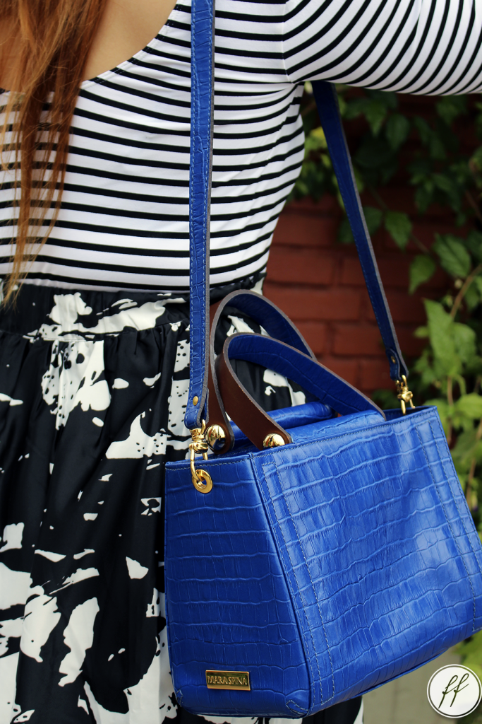 Look Mix de Estampas Bolsa Azul 9