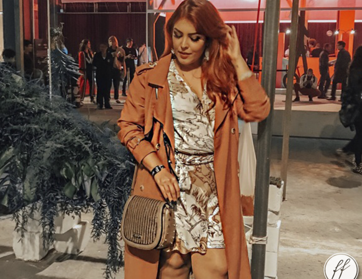 Look SPFW N46: Vestido Envelope com Trench Coat!